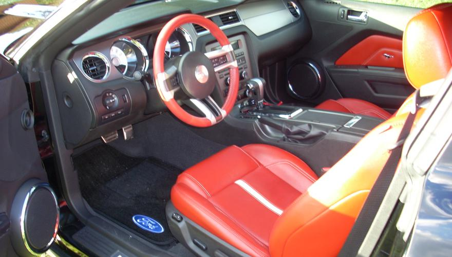 Ford Mustang GT 2010 Brick Red Leather 401